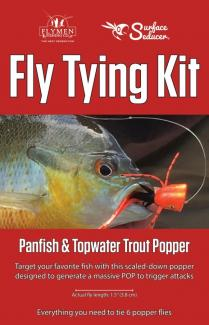 Fly Tying Kit Surface Seducer Panfish & Topwater Trout Popper