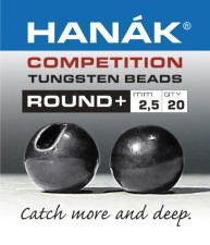 Hanak Tungsten Black Nickel Slotted Jig Beads 20pc