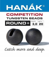 Hanak Tungsten Black Slotted Jig Beads 20pc