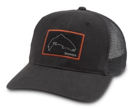 Simms High Crown Patch Trucker Fly Patch Black