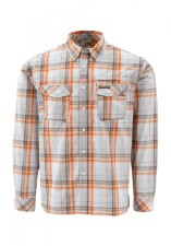 Simms Kenai Shirt Orange Plaid
