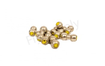 Lead Eyes Heavy Silver/Yellow 10pc