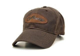 Scott Cap Brown Waxed Leather Patch