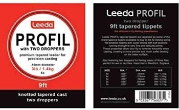 Leeda Tapered Leader With 2 droppers 9ft