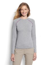 Orvis Womens Drirelease Longsleeve Tee Heather Grey