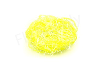 Micro Ice Blue Straggle Chenille Fluo Yellow