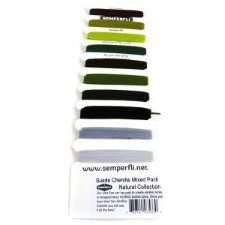 Semperfli Suede Chenille Natural 10 colors Multi Card