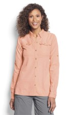 Orvis Womens Open Air Caster Shirt Orange Blossom