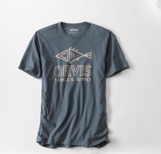 Orvis Tiki Fish Navy Heather T-Shirt