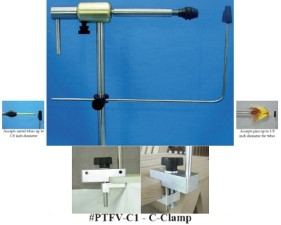 PEAK Rotary Tube Fly Vise C-clamp