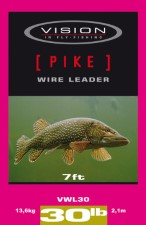 Vision Pike Wire Leader 7ft 30lb