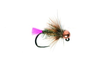 Fulling Mill Pink Tag Jig Barbless Tungsten Nymph #14