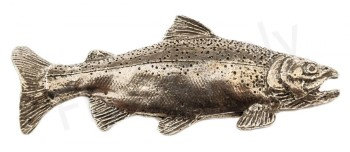 Pewter Rainbow Trout Large Pin