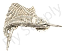 Pewter Sailfish Large Pin