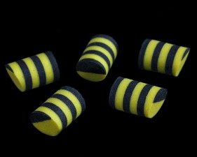 Sybai Simple Popper 14mm Duo Tone 5pc Bee Yellow