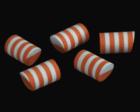 Sybai Simple Popper 14mm Duo Tone 5pc White Orange