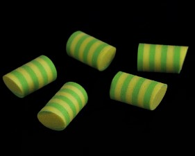 Sybai Simple Popper 14mm Duo Tone 5pc Yellow Chartreuse