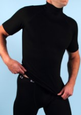 RJ Breathable Thermo Shirt Short Sleeves Black