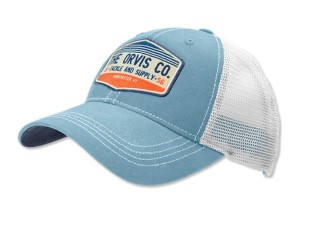 Orvis Rocky River Trucker Cap Lightblue / White