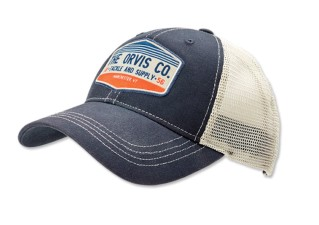 Orvis Rocky River Trucker Cap Navy / Tan