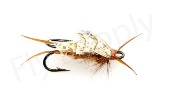 Early Brown Stone Fly Double Hook #6