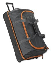 Orvis Safe Passage Vented Rolling Duffle Charcoal / Orange Trim