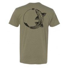 Sage Chase Trout Light Olive T-Shirt