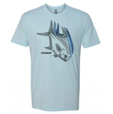 Sage Tres Permit Ice Blue T-Shirt