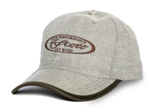 Scott Cap Linen Midnight With Brown Oval Scott Logo