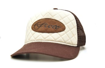 Scott Quilted Leather Patch Brown/Off White