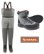 Simms Freestone Smoke Stockingfoot Wader And Freestone Vibram Boot Lead