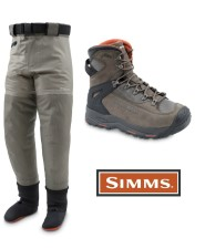 Simms G3 Guide Pant Greystone And G3 Guide Boot Vibram Dk. Elkhorn