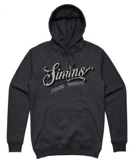 Simms Lager Script Hoody Charcoal Heather