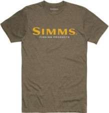 Simms Logo T-Shirt Olive Heather