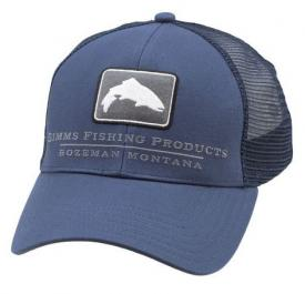 Simms Small Fit Trout Icon Trucker Dark Moon