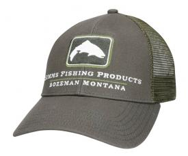 Simms Small Fit Trout Icon Trucker Shadow Green