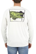 Simms Solar Tech Tee Muskie Face White
