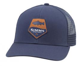 Simms Trout Patch Trucker Admiral Blue