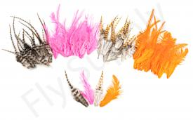 Small Streamer Saddle Feathers 18pc