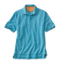 Orvis Drirelease Snap Polo Blue Wave