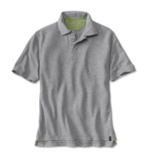 Orvis Drirelease Snap Polo Heather Grey