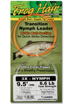 Frog Hair Transition Indicator Nymph Leader 9,5ft