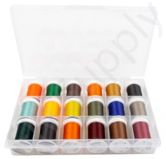 Spool Box Loaded with Fly Tying Thread 18pc