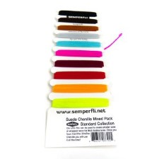 Semperfli Suede Chenille Standard 10 colors Multi Card