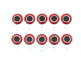 Funky Tab Eyes Red/Silver 10pc