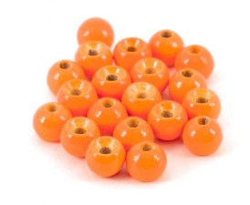 Tungsten Beads Orange Metallic 25pc