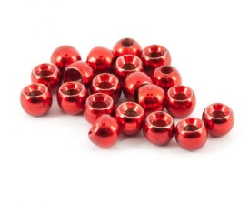 Tungsten Beads Red Metallic 25pc