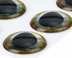 Ultra 3D Epoxy Eyes Gold Edge 20pc
