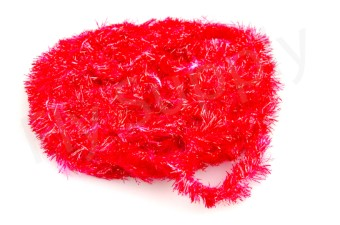 Blob chenille 15 mm Red