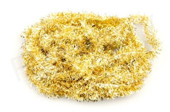 Blob chenille 15 mm Gold